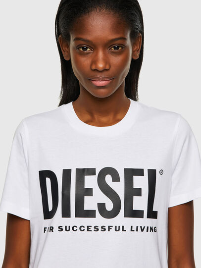 Diesel - T-SILY-ECOLOGO, White - T-Shirts - Image 3