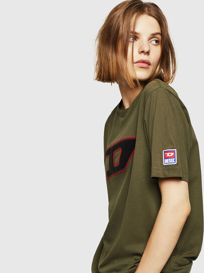 Diesel - T-JUST-DIVISION-D-FL, Military Green - T-Shirts - Image 5