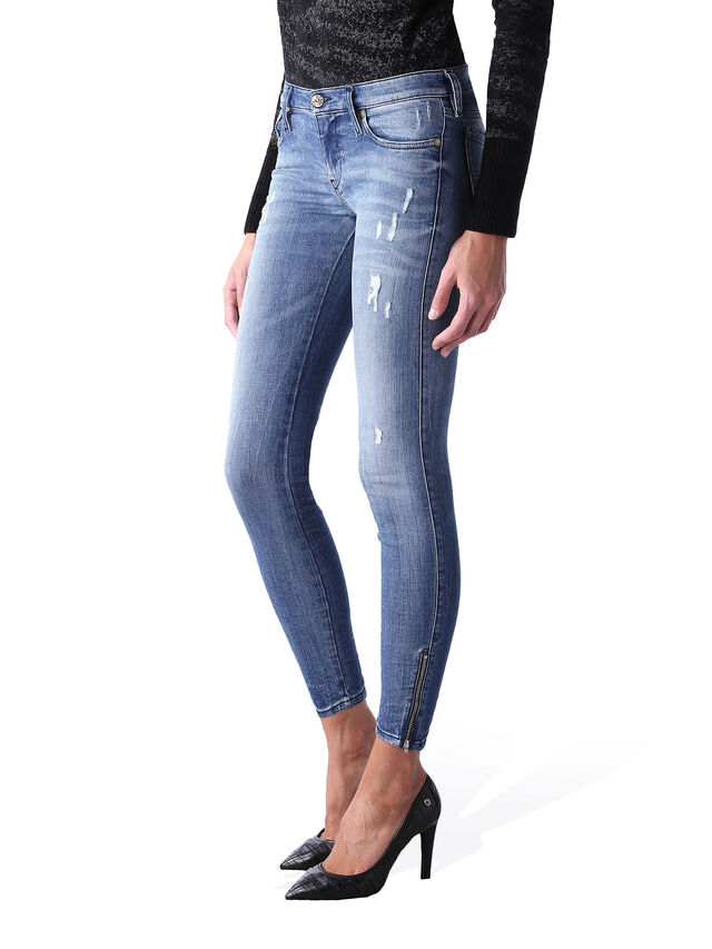 Diesel - Skinzee Low Zip 0847U, Medium blue - Jeans - Image 3