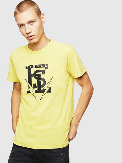 Diesel - T-DIEGO-B14, Yellow - T-Shirts - Image 1