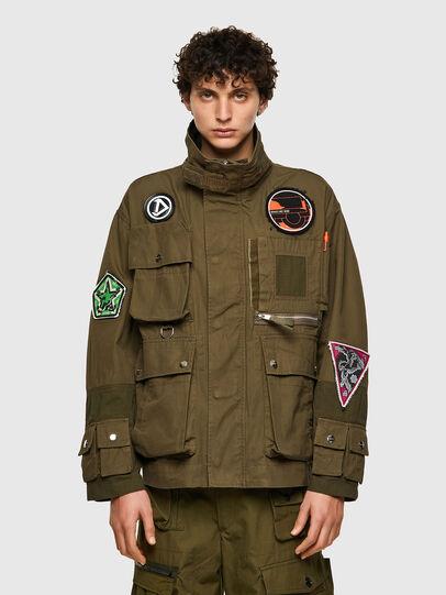 Diesel - J-BATTLE, Military Green - Jackets - Image 1