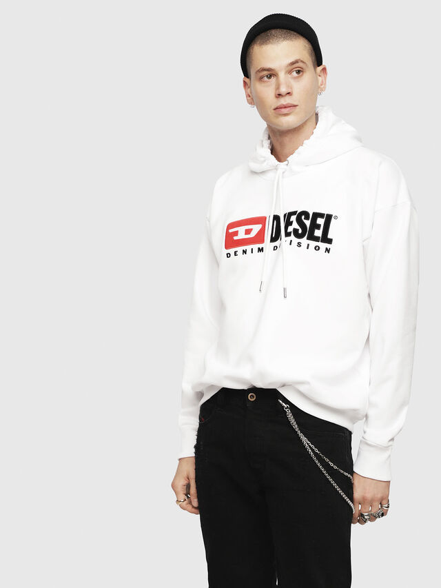 Diesel - S-DIVISION, White - Sweaters - Image 1
