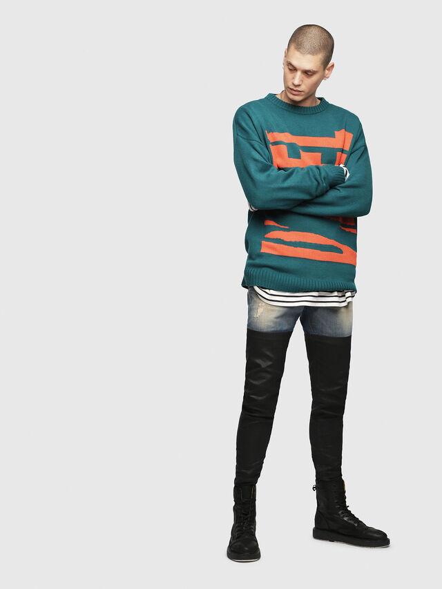 Diesel - K-LOGOX-A, Dark Green - Knitwear - Image 4