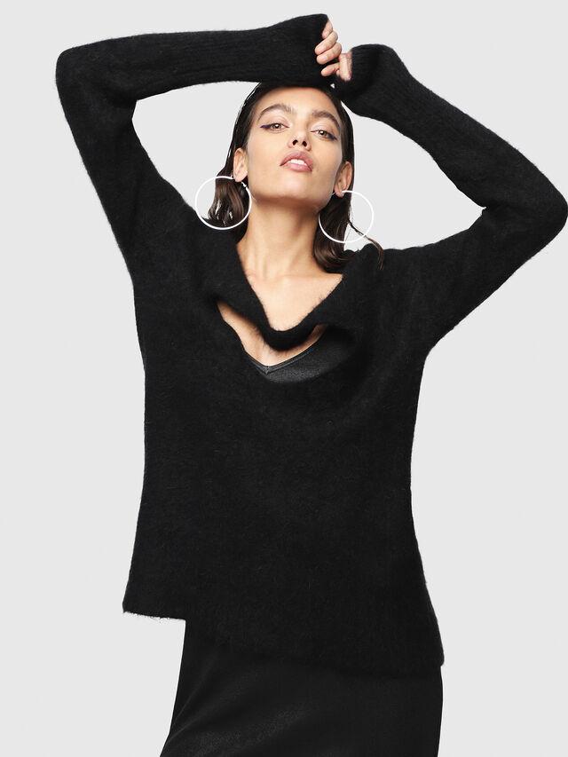 Diesel - M-GIORGIA, Black - Knitwear - Image 1