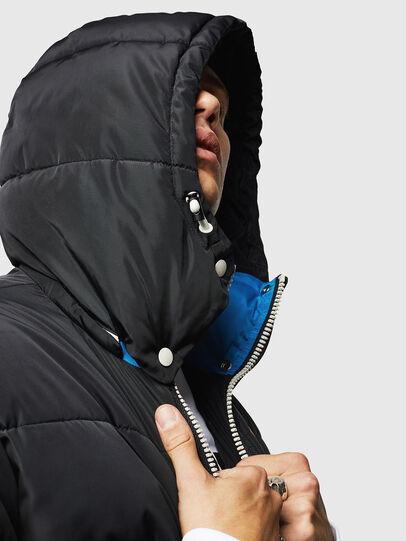 Diesel - W-MARTOS, Black/Blue - Winter Jackets - Image 3