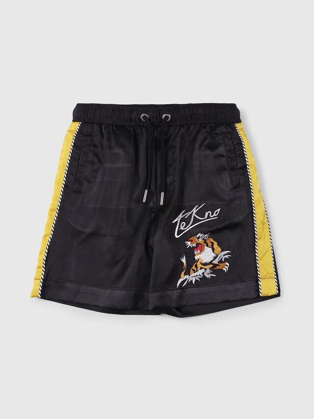 Diesel - PDOO, Black/Yellow - Shorts - Image 1