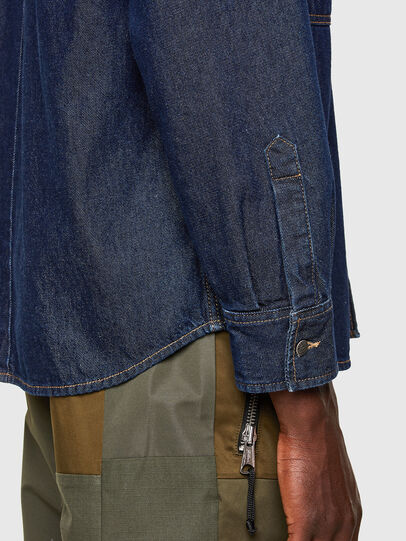 Diesel - D-RAPP, Dark Blue - Denim Shirts - Image 5