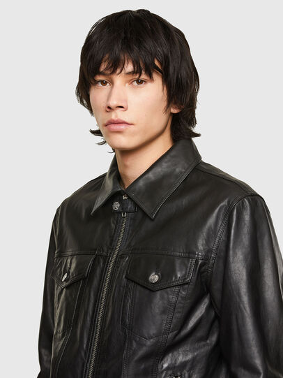 Diesel - L-PAD, Black - Leather jackets - Image 3