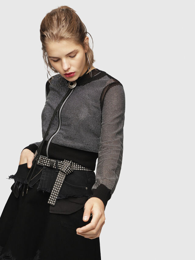 Diesel - M-TWINY, Black - Knitwear - Image 1