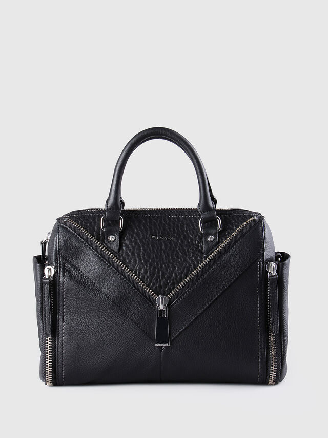 Diesel - LE-TRASY, Black Leather - Satchels and Handbags - Image 1
