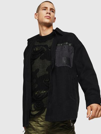 Diesel - S-LEBED, Black - Shirts - Image 4