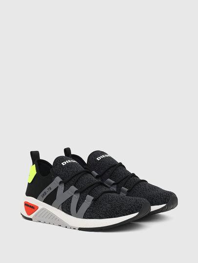 Diesel - S-KB WEB LACE, Black/Blue - Sneakers - Image 2