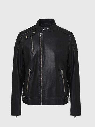 Diesel - L-CODY, Black - Leather jackets - Image 1