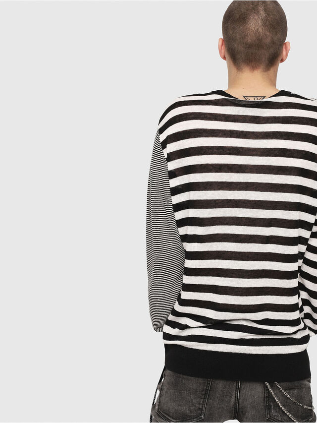 Diesel - K-MICROXX, Black/White - Knitwear - Image 2