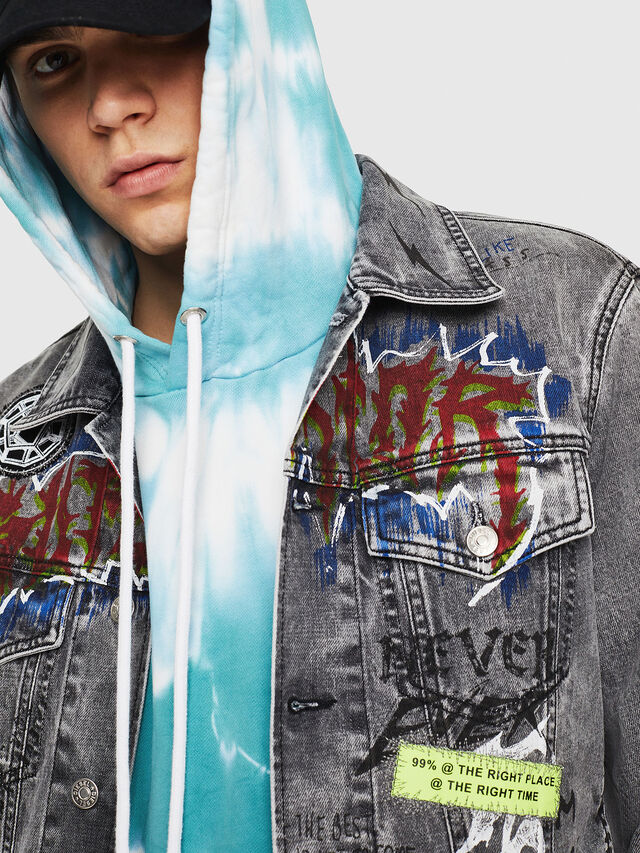 Diesel - DXF-NHILL, Light Grey - Denim Jackets - Image 5