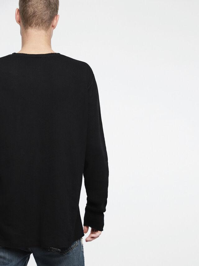 Diesel - T-JUST-LS-ROW, Black - T-Shirts - Image 2
