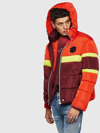 Diesel - W-MARTOS, Orange - Winter Jackets - Image 4