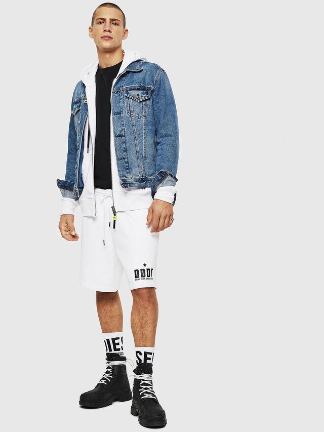 Diesel - P-ALF-SHORT, White - Shorts - Image 4