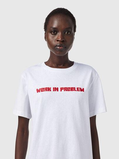 Diesel - T-DARIA-B2, White - T-Shirts - Image 3