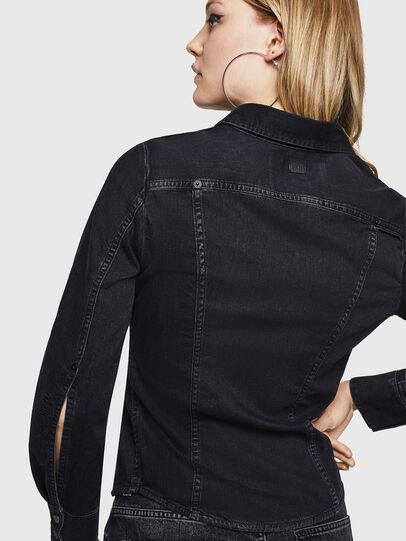 Diesel - DE-FLYP, Black/Dark grey - Denim Shirts - Image 2