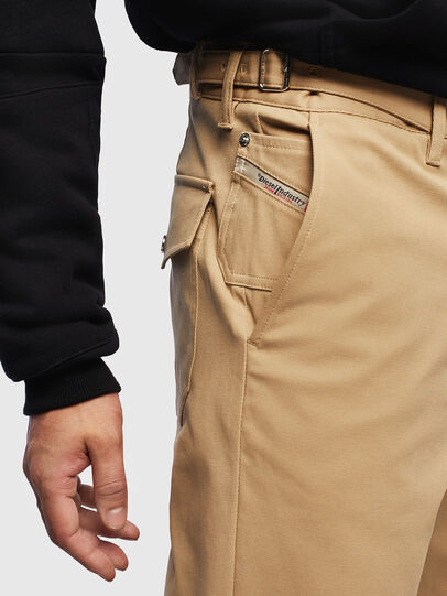 Diesel - P-CHARLIE, Light Brown - Pants - Image 4