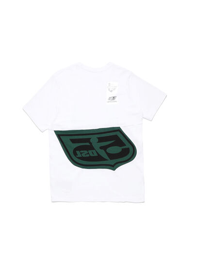 Diesel - D-SHIELD-GREEN, White - T-Shirts - Image 2