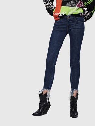 Slandy Low 088AT, Dark Blue - Jeans