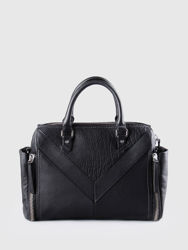 Diesel - LE-TRASY, Black Leather - Satchels and Handbags - Image 2