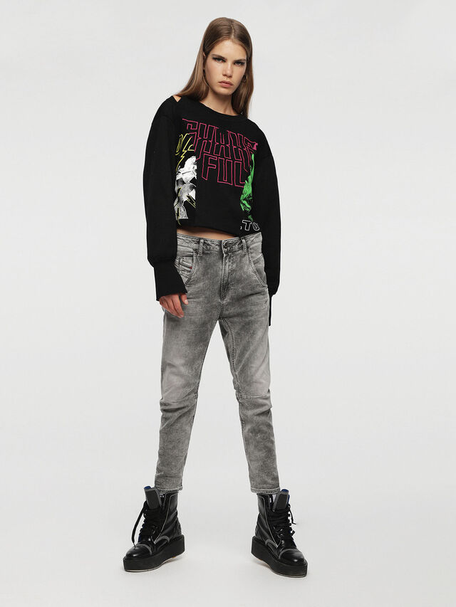Diesel - Fayza JoggJeans 0855B, Light Grey - Jeans - Image 4