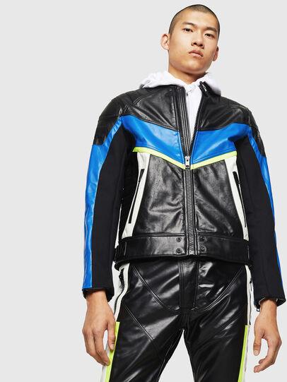 Diesel - ASTARS-LDUE, Black - Leather jackets - Image 1