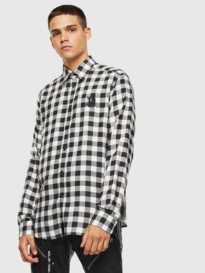 S-VEN-CHECK, Black/White - Shirts