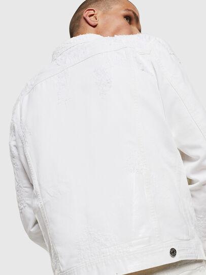 Diesel - NHILL, White - Denim Jackets - Image 8
