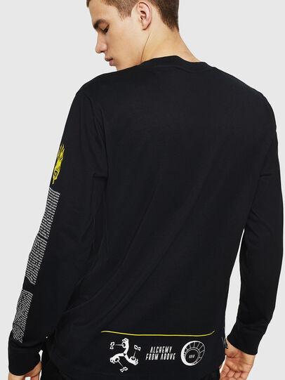 Diesel - T-JUST-LS-NEW, Black - T-Shirts - Image 2