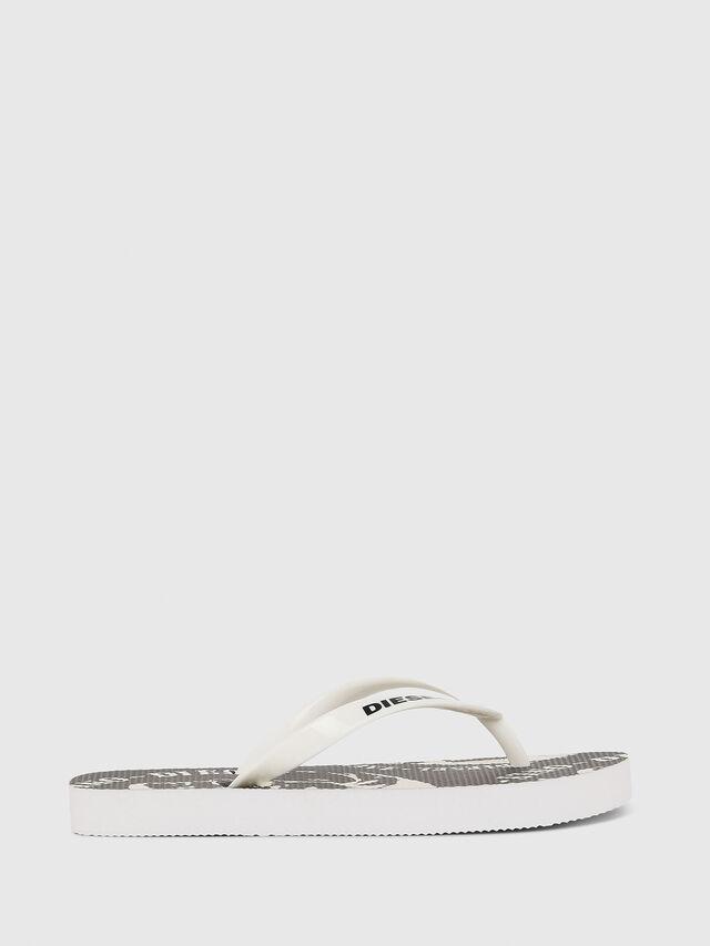 Diesel - FF 22 FLIPPER CH, White/Black - Footwear - Image 1