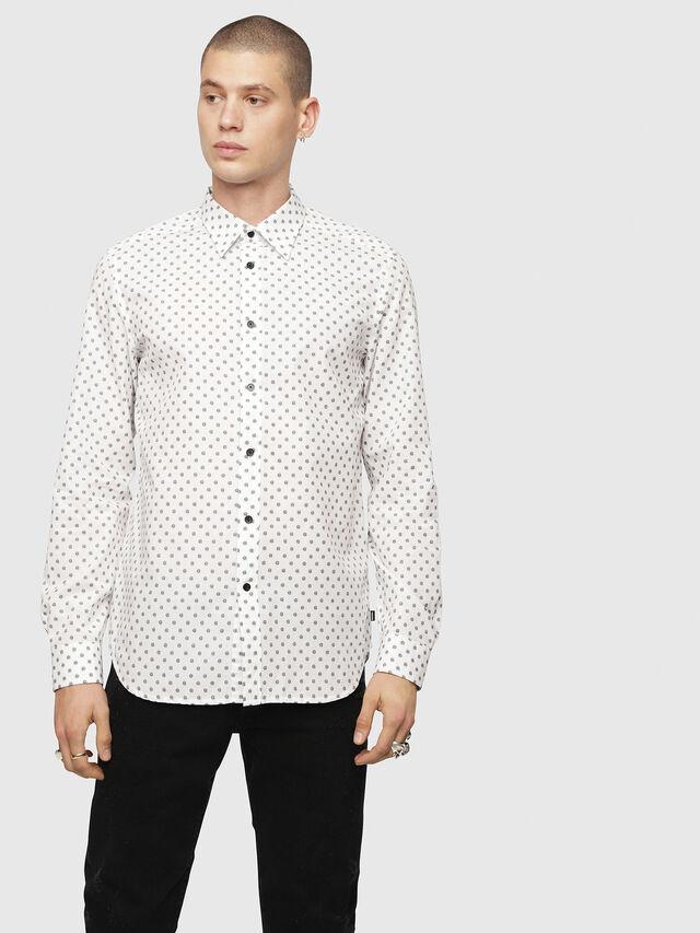 Diesel - S-JIROU, White/Black - Shirts - Image 1