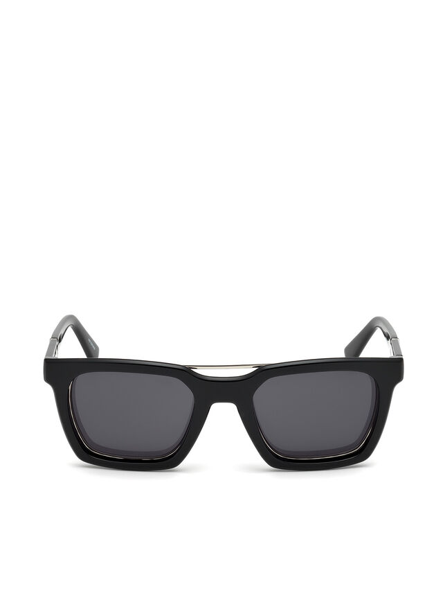 Diesel DL0250, Bright Black - Eyewear - Image 1
