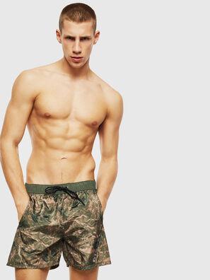 BMOWT-DORSAL, Green Camouflage - Swim shorts