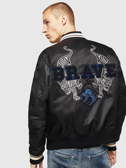 Diesel - L-KHARKOV, Black - Leather jackets - Image 2