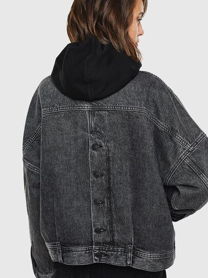 Diesel - DE-JALA, Black/Dark grey - Denim Jackets - Image 2
