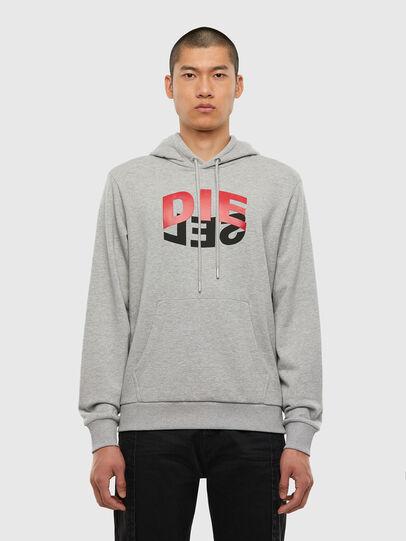 Diesel - S-GIRK-HOOD-N1, Grey - Sweaters - Image 1