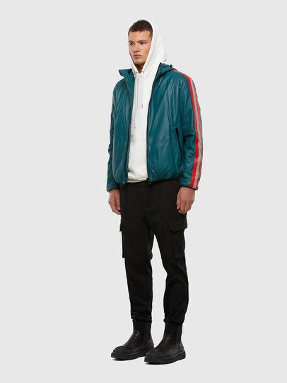 Diesel - L-MATHIAS, Water Green - Leather jackets - Image 7