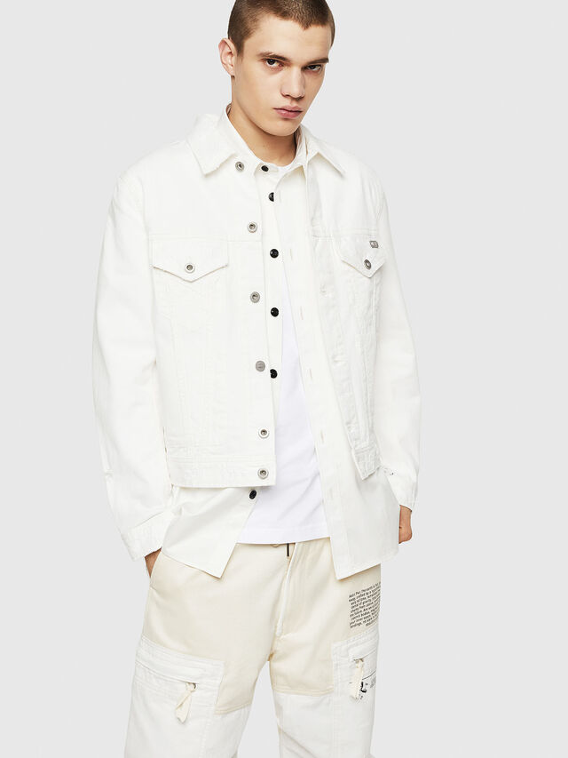 Diesel - D-BRAY, White - Denim Jackets - Image 1
