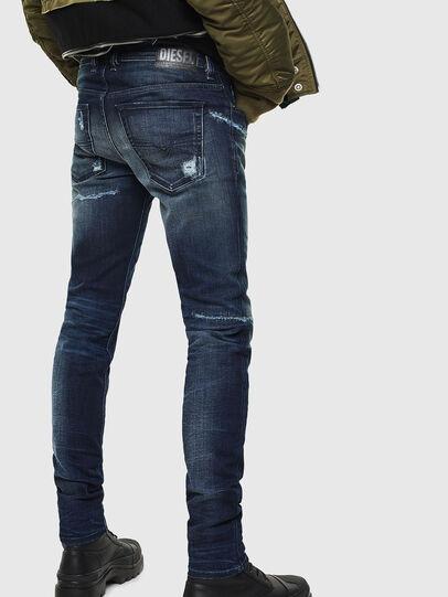 Diesel - Sleenker 0097P, Dark Blue - Jeans - Image 2