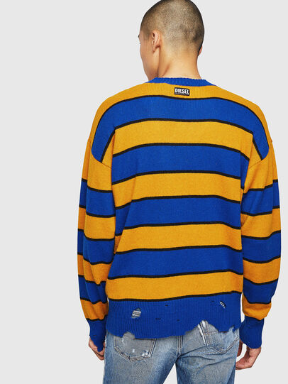 Diesel - K-LOVERY, Blue/Yellow - Knitwear - Image 2