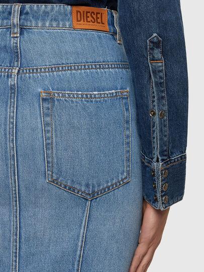 Diesel - DE-PENCIL-ZIP, Light Blue - Skirts - Image 3