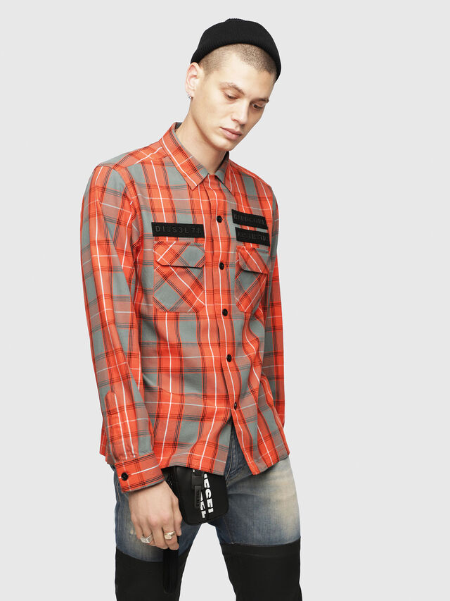 Diesel - S-TAKESHI, Red - Shirts - Image 1