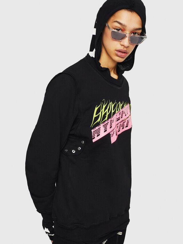 Diesel - F-LYANY-C, Black - Sweaters - Image 4