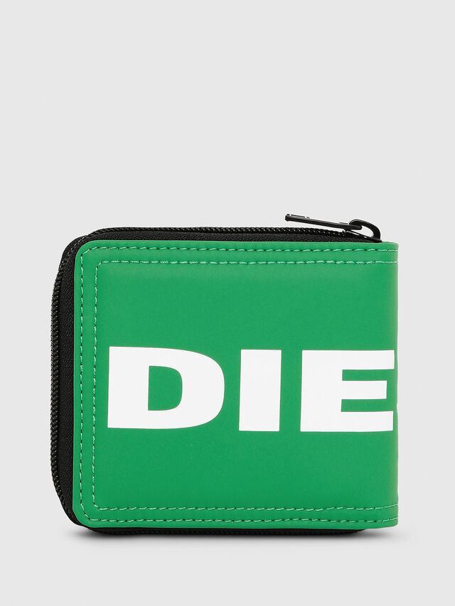 Diesel - ZIPPY HIRESH S, Green - Zip-Round Wallets - Image 2