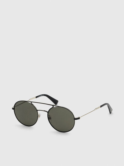Diesel - DL0301, Black/Gold - Sunglasses - Image 2