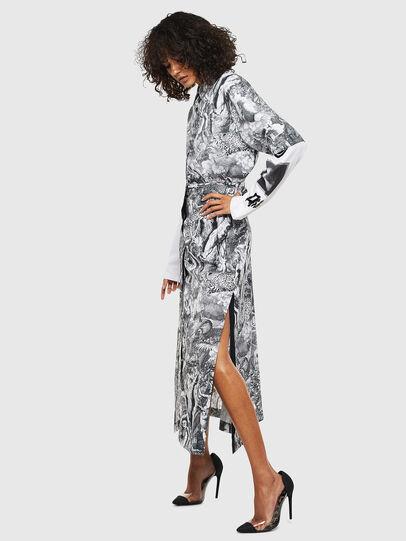 Diesel - O-MOYA-B, Black/White - Skirts - Image 7